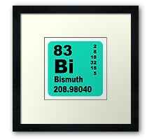Bismuth periodic table of elements Framed Print