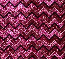 Cute Pink Chevron Glitter Pattern by iEric