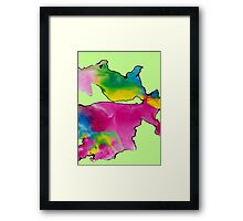 Watercolor movement Framed Print