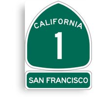 PCH - CA Highway 1 - San Francisco Canvas Print