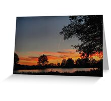 A walk at dusk Greeting Card