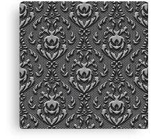 Vintage Damask Pattern Metal Look Canvas Print