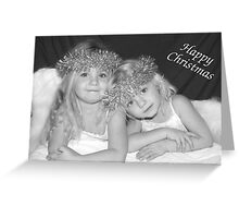 Little Angels Christmas card Greeting Card