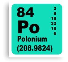 Polonium periodic table of elements Canvas Print