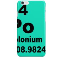 Polonium periodic table of elements iPhone Case/Skin