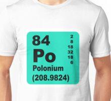 Polonium periodic table of elements Unisex T-Shirt