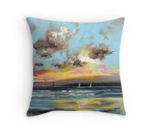 Sound of Mull Lighthouse Throw Pillow