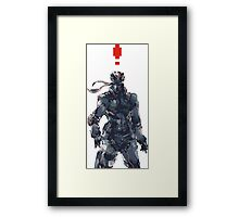 Retro Solid Snake Framed Print