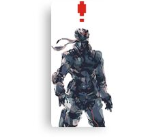 Retro Solid Snake Canvas Print