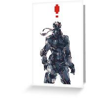 Retro Solid Snake Greeting Card