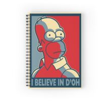 I Believe In D'oh Spiral Notebook