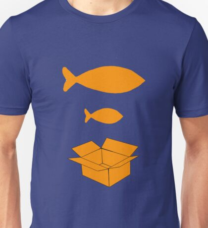 Big Fish Little Fish Cardboard Box Unisex T-Shirt