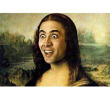 Nicolas Cage - Mona Lisa Photographic Print