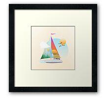 Seaside Vacation Framed Print