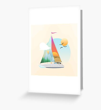Seaside Vacation Greeting Card