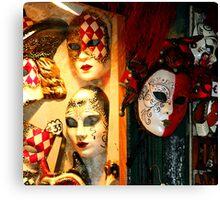 Carnival Masks - Venice Canvas Print