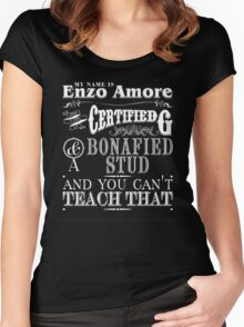 My Name is Enzo Amore-ZERO DIMES Women's Fitted Scoop T-Shirt