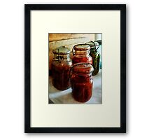 Tomatoes and String Beans in Canning Jars Framed Print