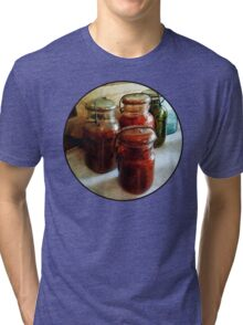 Tomatoes and String Beans in Canning Jars Tri-blend T-Shirt