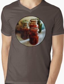 Tomatoes and String Beans in Canning Jars Mens V-Neck T-Shirt