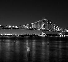 Benjamin Franklin Bridge by electron