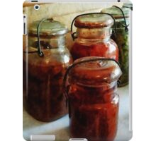 Tomatoes and String Beans in Canning Jars iPad Case/Skin