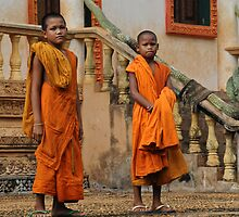 Young Buddhist Priests by Carl LaCasse