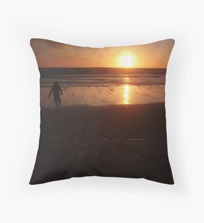 Croyde Sunset Throw Pillow