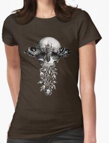 Metamorphosis Design on Black or Dark Color Womens Fitted T-Shirt