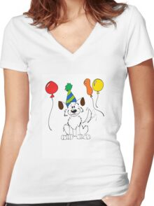 Happy Birthday Max! Women's Fitted V-Neck T-Shirt