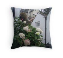 Clovelly Garden Throw Pillow