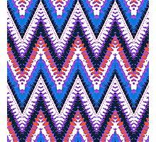 Bohemian print with chevron pattern in purple Photographic Print