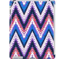 Bohemian print with chevron pattern in purple iPad Case/Skin