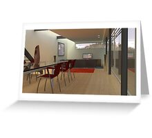 Cool Interior - 3D Computer Generated Image Greeting Card