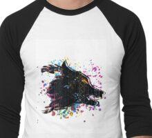 Aztec Wolf Men's Baseball ¾ T-Shirt