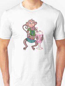 Milkshake Monkey Unisex T-Shirt