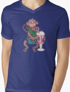 Milkshake Monkey Mens V-Neck T-Shirt