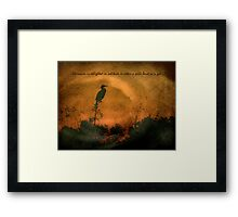 Either A Wild Beast Or A God Framed Print