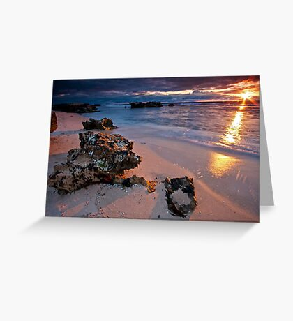 Last rays...Trigg Beach, Perth Greeting Card