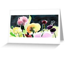 Pink & Yellow Flowers Greeting Card