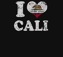 Vintage I Heart Cali California Flag Womens Fitted T-Shirt