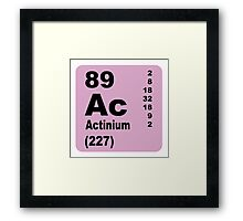 Actinium Periodic Table of Elements Framed Print