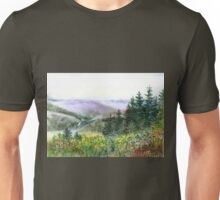 Landscape With Mountains Redwood And Creek Unisex T-Shirt