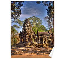 Temple ruins from Siem Reap Poster