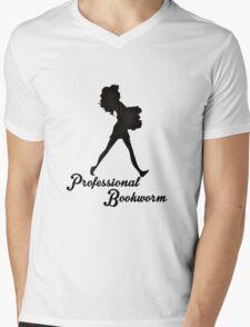 Professional Bookworm Mens V-Neck T-Shirt