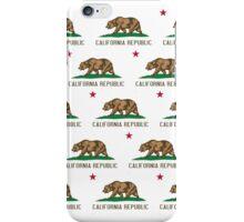 California Republic Flag Pattern iPhone Case/Skin