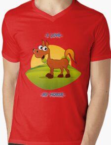 I Love My Horse Mens V-Neck T-Shirt