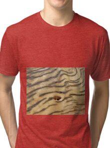 Wood Texture - Natural Background of Grain Tri-blend T-Shirt