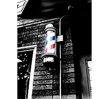 Barbershop in Little Italy  Photographic Print