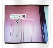 Knock Knock Hotel Door Poster